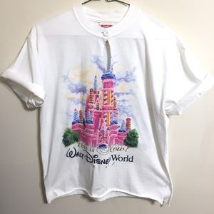 Vintage Cropped Walt Disney World T-Shirt Top